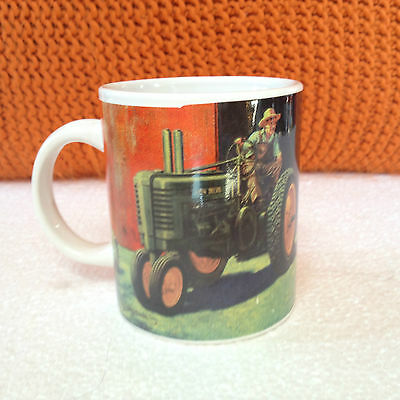 John Deere Coffee Mug Cup Gibson Licensed Product Son w cow,  Dad on old Tractor