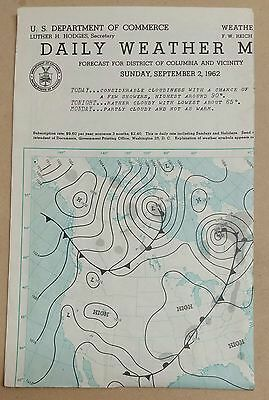 1962 Daily Weather Map North America US Department of Commerce