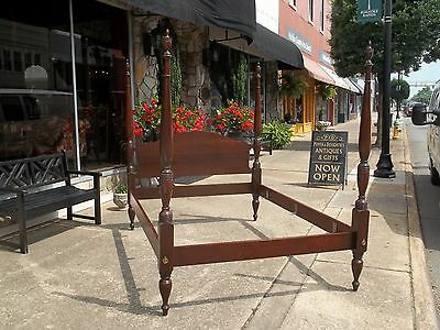 Outstanding Queen Mahogany Four Poster Bed By Craftique 20thc