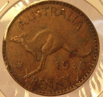 1938 M Australia Penny Melbourne Copper Coin Holder Thecoindigger World Coins