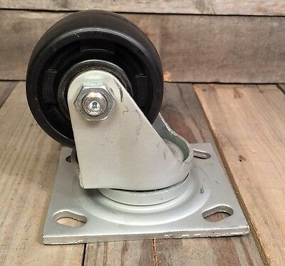 "Heavy Duty MHS 3"" Wheel SWIVEL Caster 1000lb Capacity LOW PROFILE MADE IN USA"