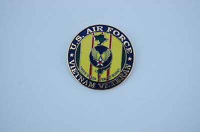 Military Hat / Lapel Pin - Insigna U.s. Air Force Vietnam Veteran  2