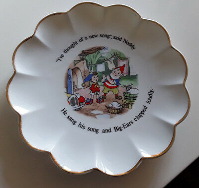 As New Vintage Noddy Royal Stafford Gold Scalloped Edged Fine Bone China Plate