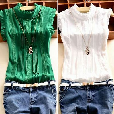 Women Summer Loose Casual Chiffon Sleeveless Vest Shirt Top Blouse Clothing Tops