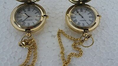 Pair of NAUTICAL Brass Shining finish pocket watch Decorative Replica