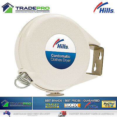 Hills® Genuine Cordomatic Clothes Dryer Retractable Clothesline 15m Airer Line