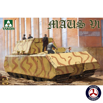 Takom 1/35 Maus VI WWII German Super Heavy Tank Prototype V1 2049 Brand New