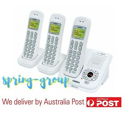 Cordless Phone 3x Handsets Home Telephone System Answering Machine WiFi Friendly