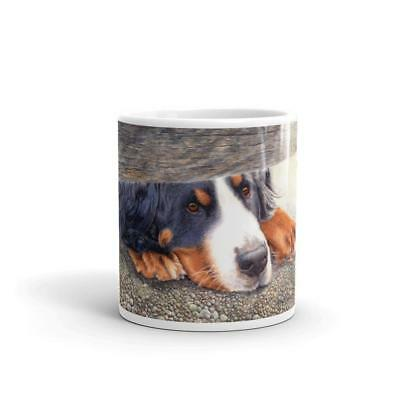 """The Watchman"" Bernese Mountain Dog 11oz Coffee Mug"