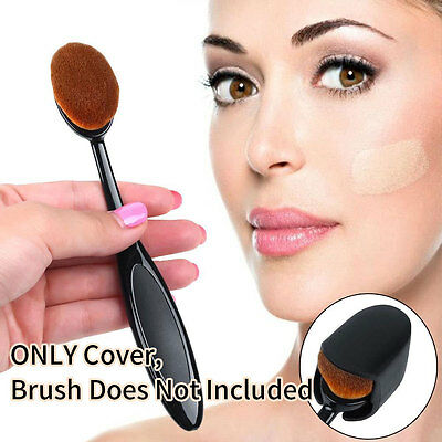 2pcs Oval Makeup Brush Cover Cosmetic Foundation Cream Powder Tool