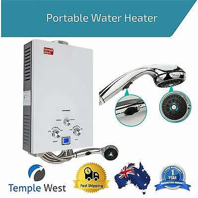 Portable Gas Hot Water Heater Caravan Outdoor Bath Camping Hiking Warmer Shower