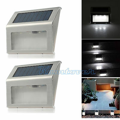 2X Solar Powered Lights low powered wall lights For Garden Fairy Outdoor Lamp AU