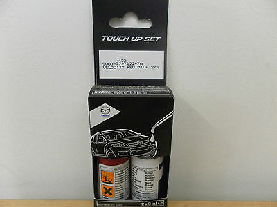 VELOCITY RED 27a TOUCH UP PAINT MAZDA BRAND NEW GENUINE PART 9000777W227A