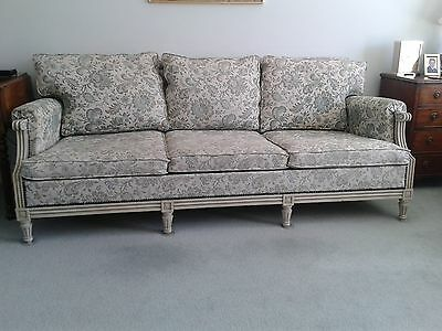 French Louis XVI reproduction 3 seater sofa