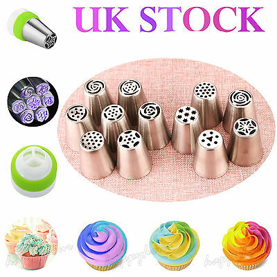 12pcs Tulip Flower Cake Icing Piping Nozzles Decorating Tips Baking Tools