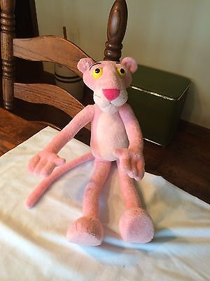 """The Pink Panther Posable Bendable Soft Stuffed Plush Kids Doll Animal Toy 18"""""""