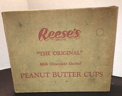 Vintage REESE'S Peanut Butter Cup Candy Paper Carton Container Advertising Box