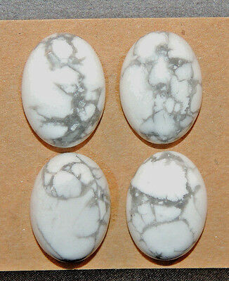 Howlite Cabochons 13x18mm with 6.5mm dome set of 4  (12132)