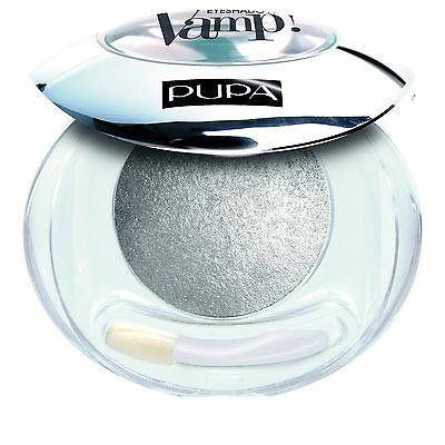 Pupa Vamp Wet & Dry Eyeshadow ombretto cotto luminoso n.404 Luxurious Silver