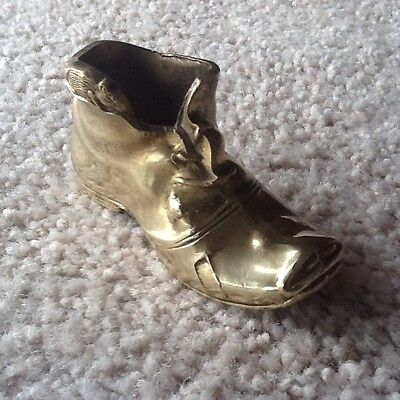 Vintage Brass Boot Ornament - Weighs 79 Gms - Collectable