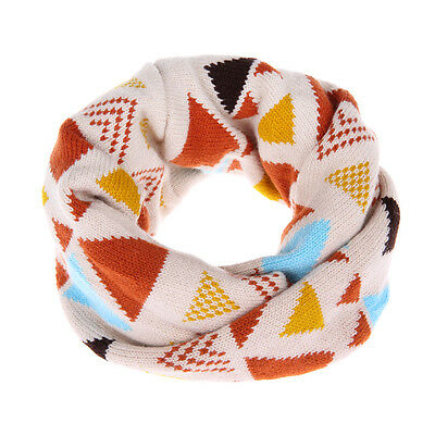 Kids Bohemia Cozy Knit Snood Infinity Scarf Neckwarmer (Buff)