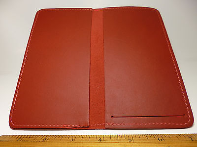 North Star Red Side Tear Leather Checkbook Cover-SAVE $5.00-2nd-Made In USA#130