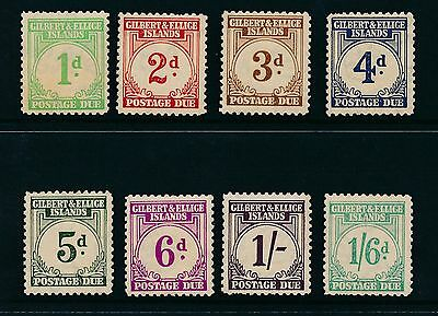 Gilbert and Ellice Islands 1940 Postage Due SG D1-D8 MM