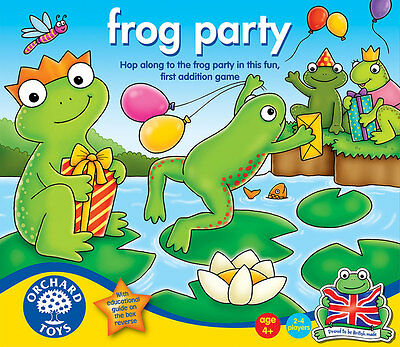Orchard Toys Frog Party Addition Game for Kids – NEW