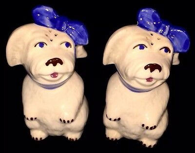 "VINTAGE SHAWNEE POTTERY MUGGSY WITH A TOOTHACHE SALT & PEPPER SHAKERS 5"" Large"