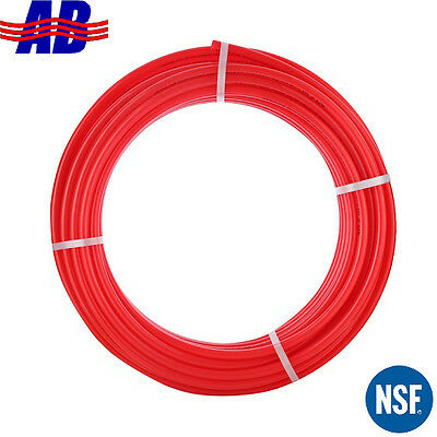 """PEX Pipe/Tubing 1/2"""" 300ft Coil Red Non Oxygen Barrier Domestic Hot Water"""