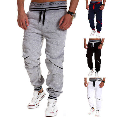 Mens Jogger Dance Sportwear Baggy Stylish Fashion Designer Trousers Casual Pants