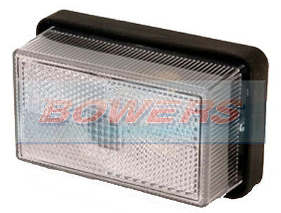 Rubbolite White Clear Front Marker Light For Ifor Williams Brian James Trailer