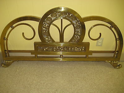 VINTAGE ANTIQUE  Ornate Brass bed WITH RAILS FULL SIZE