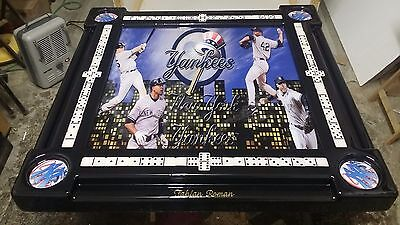 NY Yankee Greats Domino Table with YOUR name by Domino Tables by Art