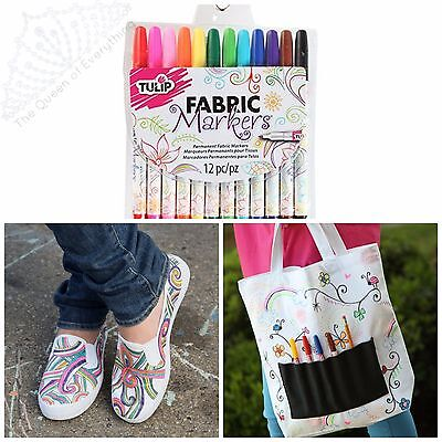 TULIP FABRIC MARKERS Multi-color Permanent Marker 5 Sets  FREE SHIP