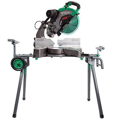 "15A 12"" Dual Bevel Compound Miter Saw w/ Laser and Stand Hitachi C12RSH2 New"
