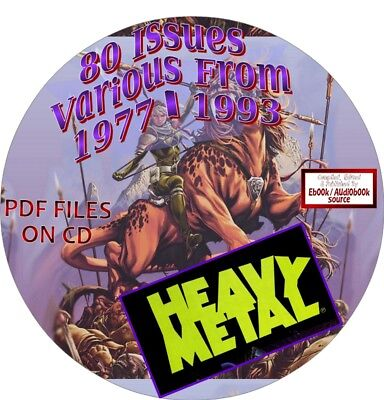 Heavy Metal Magazine - 69 Issues - Dates From 1977 - 1993 - Pdf Files On Cd