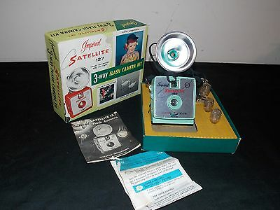 Vintage Mint Green Imperial Satellite 127 Flash Camera in Original Box