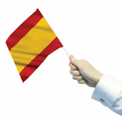 Spain Waving Flags x 12 (22cm x 15cm)