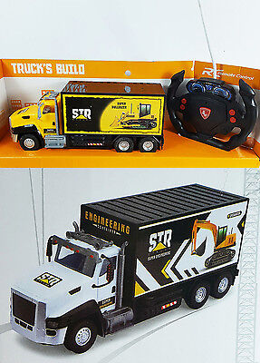 Battery Operated Engineering Construction RC Truck Machine Truck's Build Lights