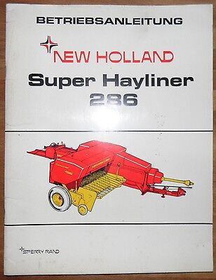 New Holland Super Hayliner 286 Betriebsanleitung