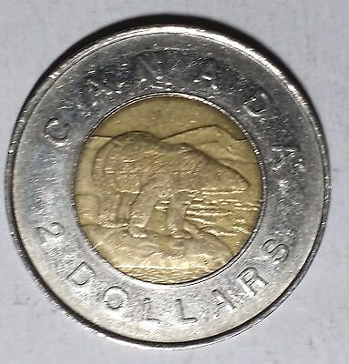 1996 Two Dollar Toonie Canada Coin