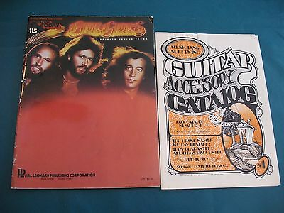 Lot Song Music Book Bee Gees and Musicians Supply Guitar Accessory Catalog 1974