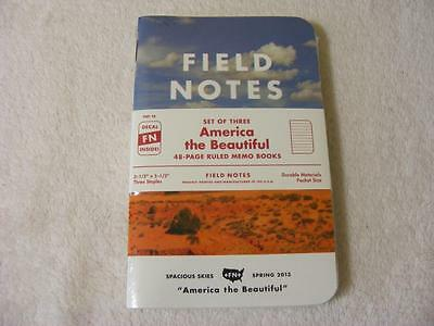 Field Notes America the Beautiful Sealed 3 Pack Set