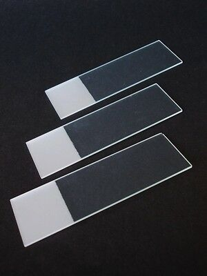 MICROSCOPE  SLIDES, GROUNDED EDGE , TWO SIDES FROSTED 76 x 26 x 1 mm BOX OF 50
