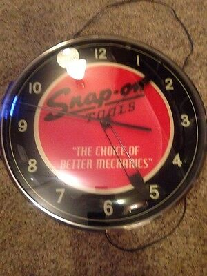 NEW Snap on Tools Lighted Clock and  matching Thermometer