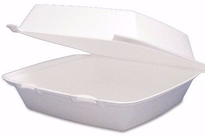 200 Disposable TO Go Boxes 1 Compartment (Large) Food Transport Hot Cold Bowls