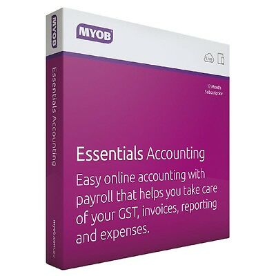 MYOB Essentials Accounting with UNLIMITED Payroll 12 Months Subscription RRP$599