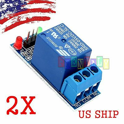 2PCS 1 Channel DC 5V Relay Switch Module for Arduino Raspberry Pi ARM AVR