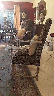 One pair French antique accent armchair in excellent condition.
